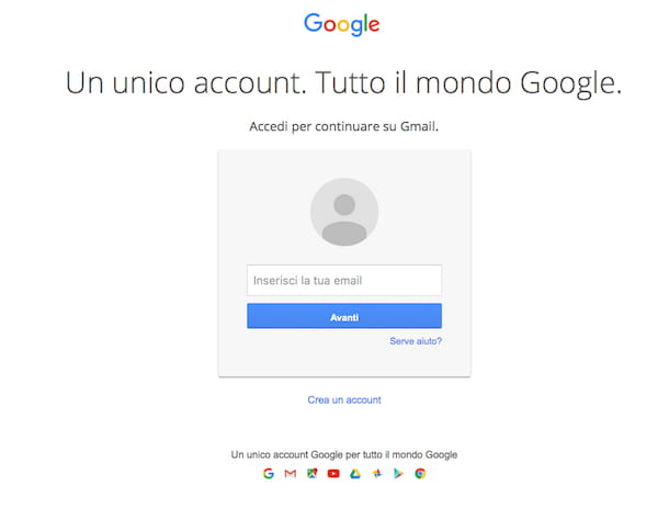 Screenshot che mostra come inoltrare mail Gmail