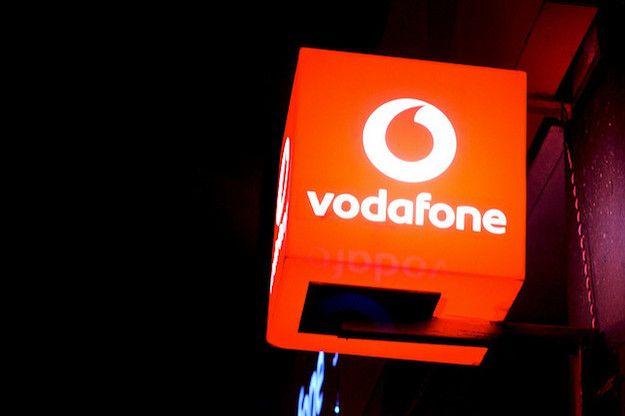 Foto di un insegna Vodafone
