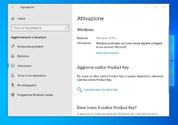 Come recuperare Product Key Windows 10