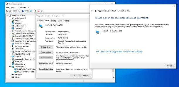 Come aggiornare driver scheda video: Windows 10