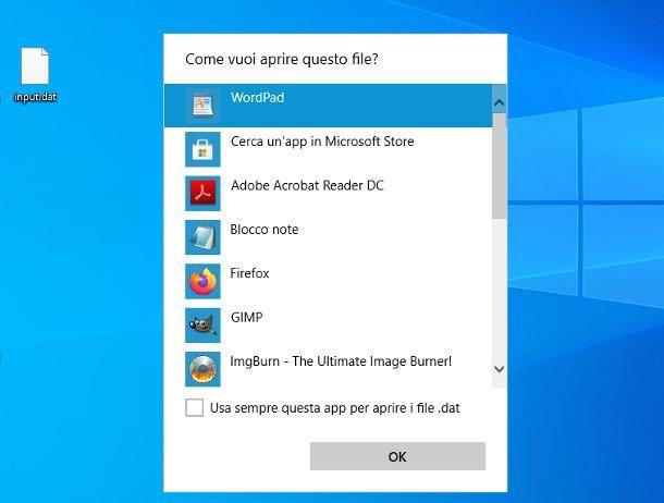 Come aprire file DAT con Windows