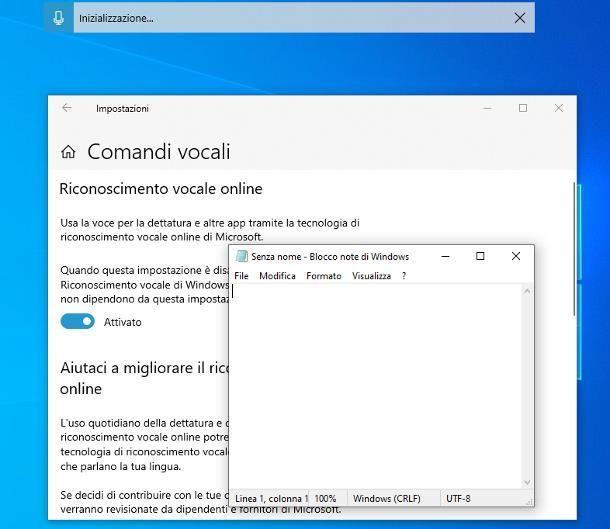 Come dettare al computer: Windows 10