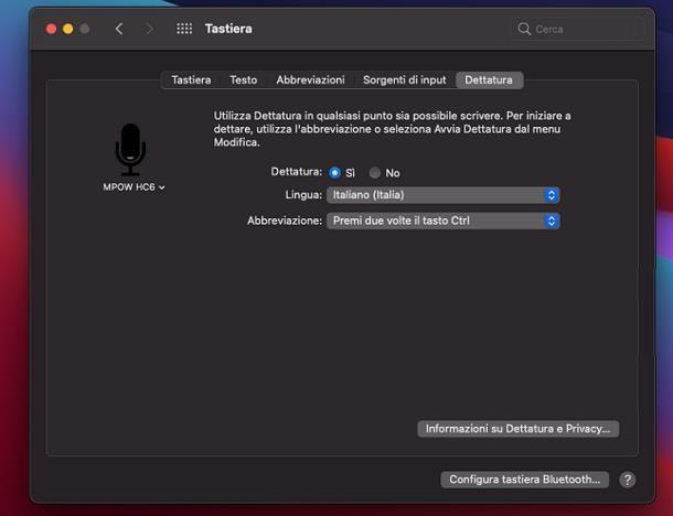 Come dettare al computer: Mac
