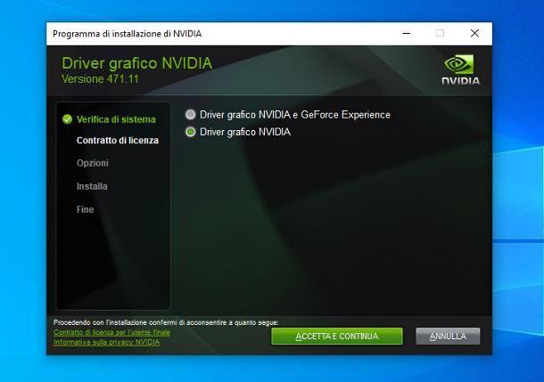 Come aggiornare driver scheda video NVIDIA