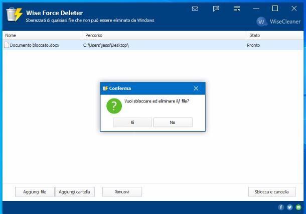 Come cancellare file incancellabili su Windows