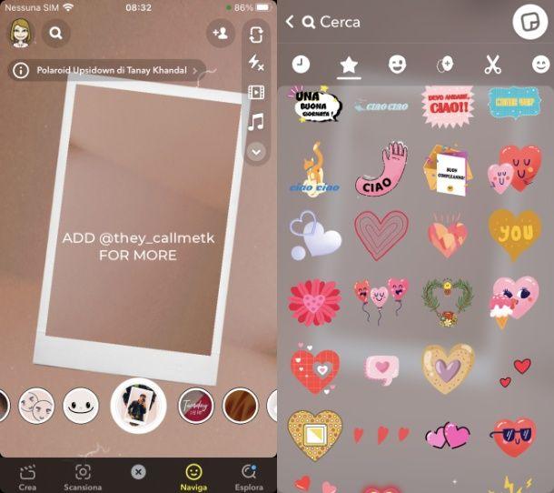 Come funziona Snapchat facce