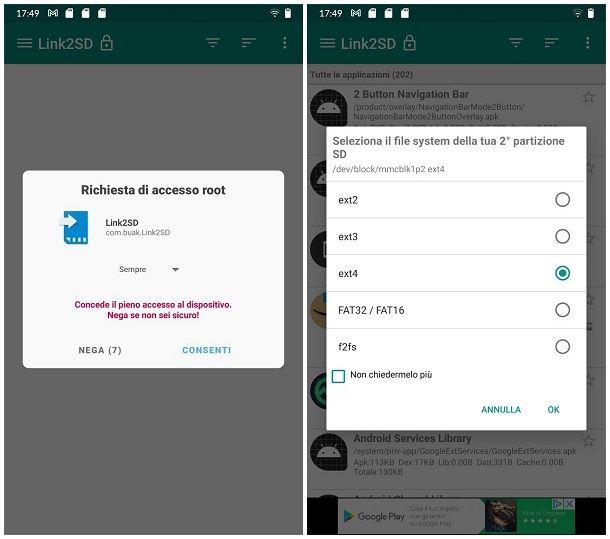 Come spostare applicazioni Android su SD