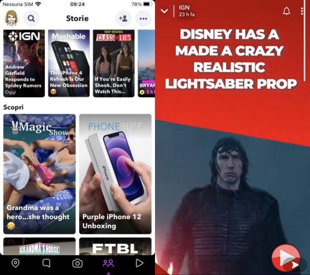Come funziona Snapchat storie