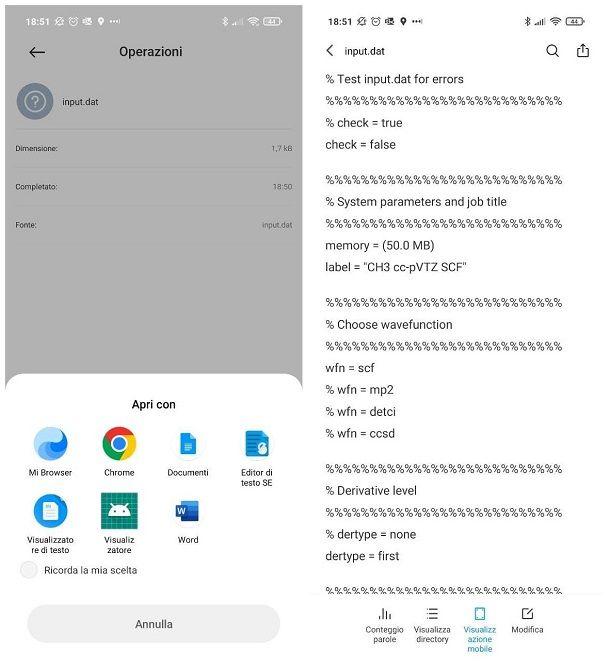 Come aprire file DAT su Android