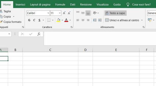 Tasto Testo a capo Excel