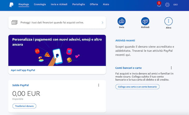Associare carta a PayPal