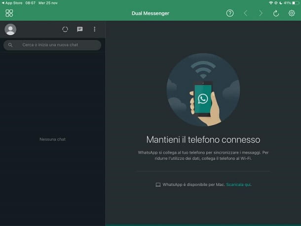 Dual messenger ipad