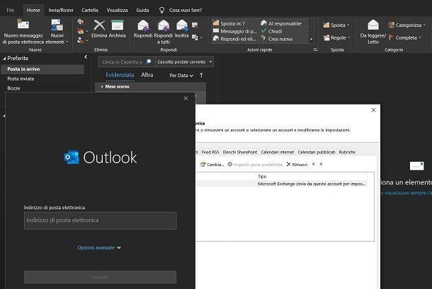 Configurazione account Outlook