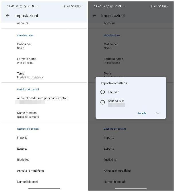 Come salvare rubrica Android: file VCF