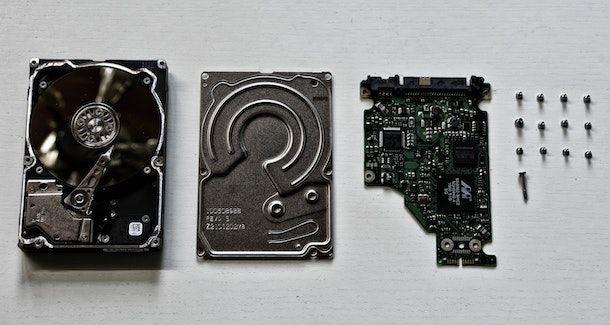 Hard disk smontato