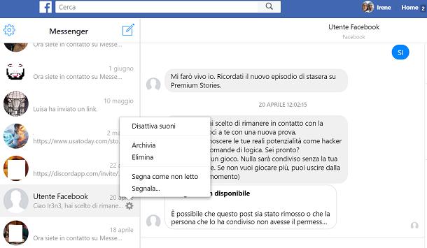 Come Recuperare Le Chat Cancellate Su Facebook