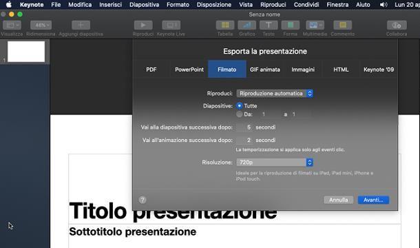 Altri programmi per presentazioni video