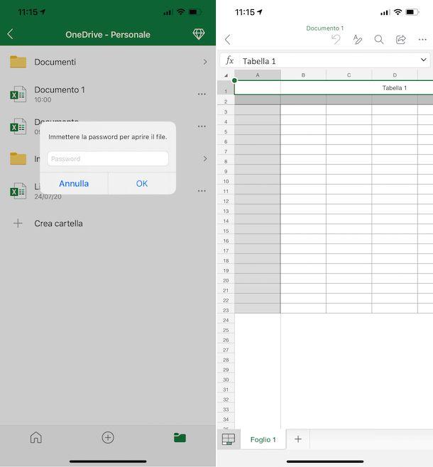 Excel iPhone