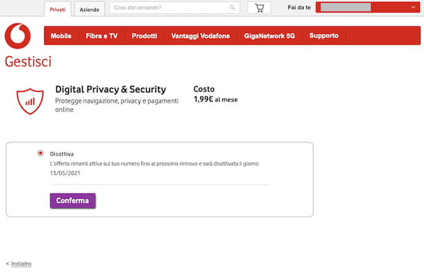 Vodafone Fai da te online