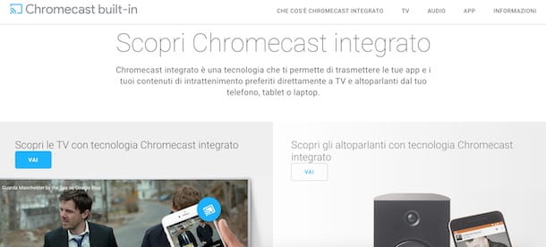 Chromecast integrato