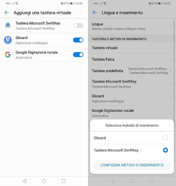 Come impostare la tastiera predefinita su Android