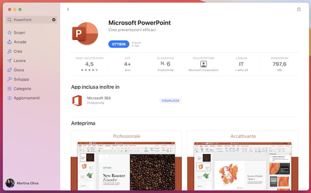 PowerPoint Mac App Store