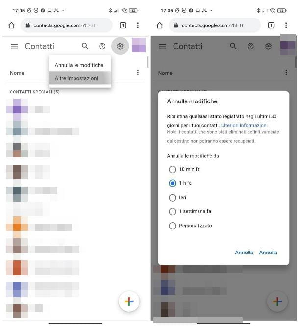 Come recuperare contatti Android cancellati