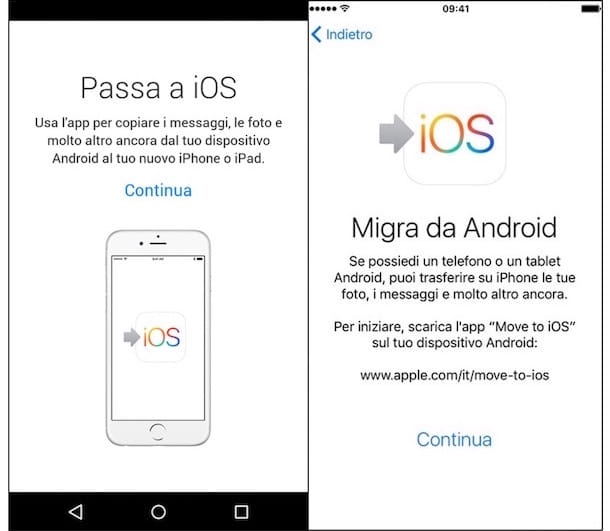 Copiare rubrica da iphone a samsung s6