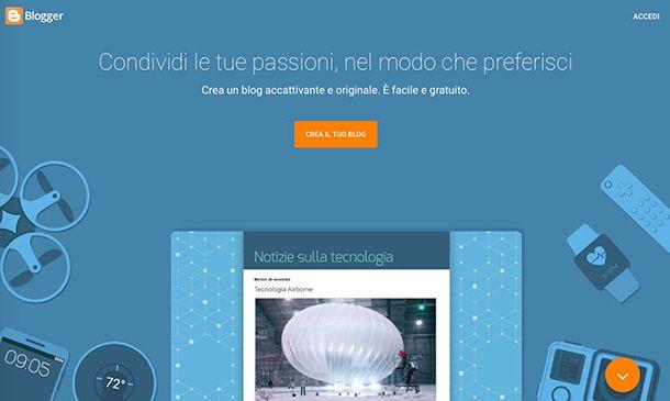 Come creare un blog gratis su Internet con Blogger