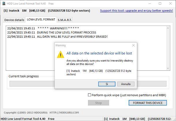 Come formattare hard disk esterno: Windows