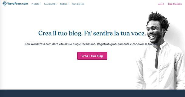 Come creare un blog gratis su Internet con WordPress