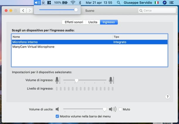 Alzare volume MacBook