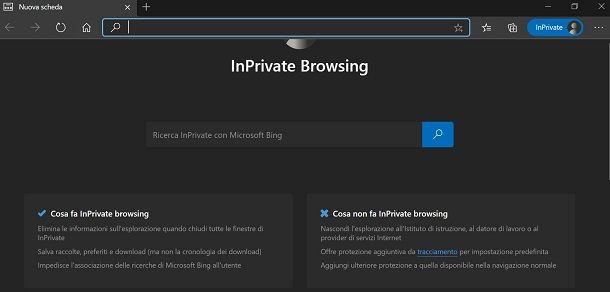 Microsoft edge incognito