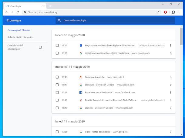 Cronologia Chrome computer