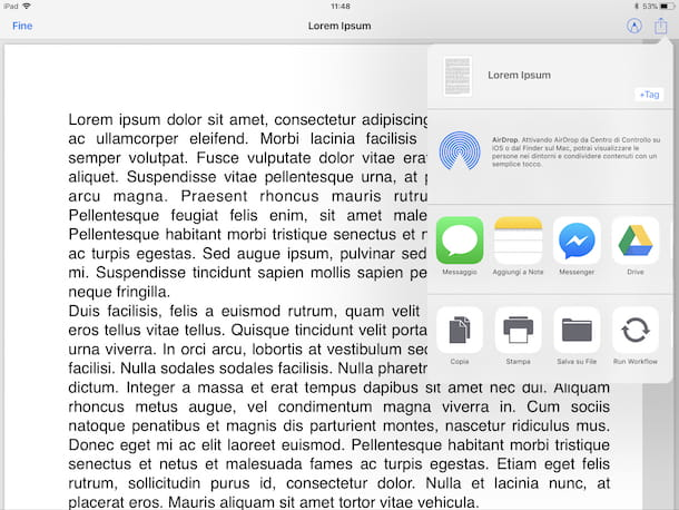 Come salvare file su iPad