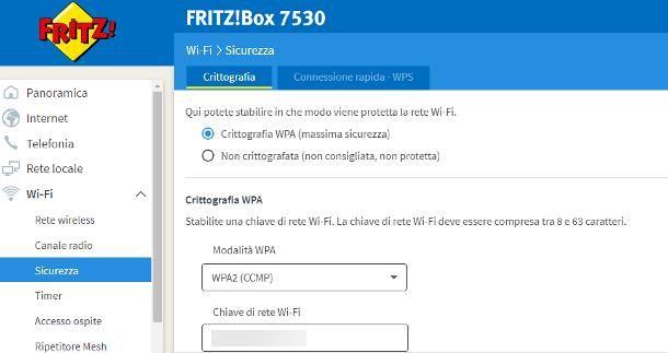 Come cambiare password al modem Fritz Box