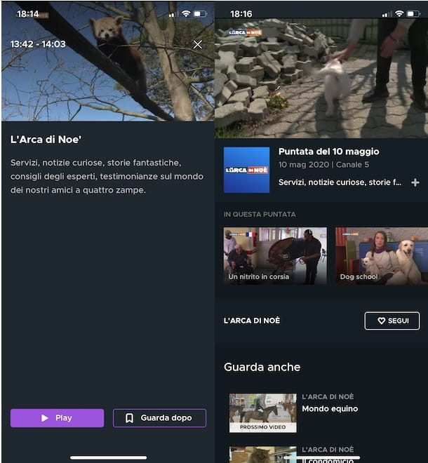 App per rivedere programmi TV Mediaset
