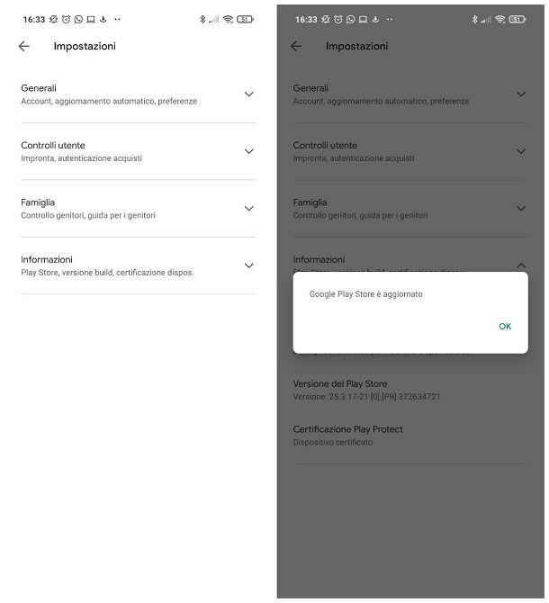 Come aggiornare Play Store su Android