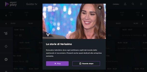 Rivedere programma Mediaset