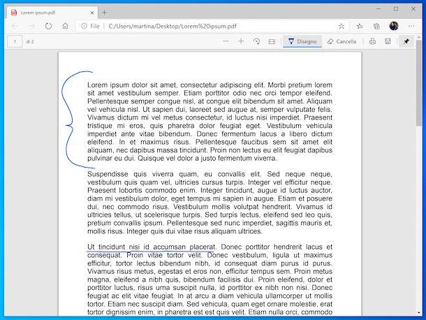 Microsoft Edge visualizzatore PDF