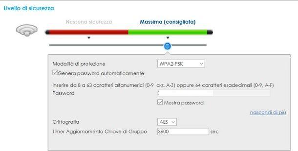 Come cambiare password al modem Wind
