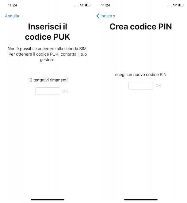 Sbloccare la SIM iPhone con PUK