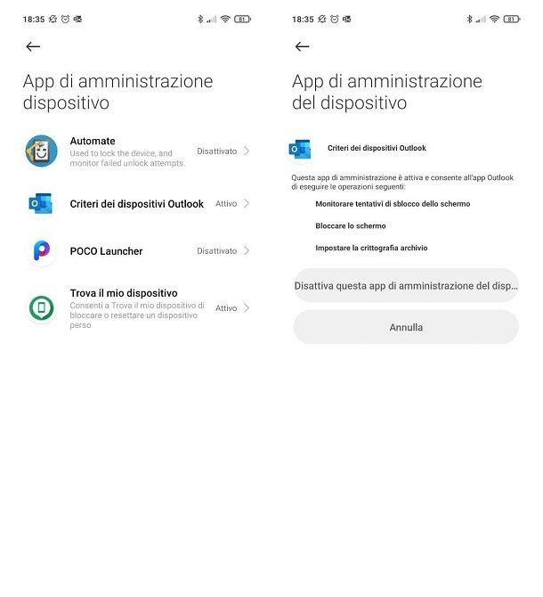 Non riesco a disinstallare un'app da Android