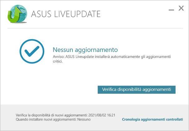 ASUS Live Update (notebook e pre-assemblati ASUS)