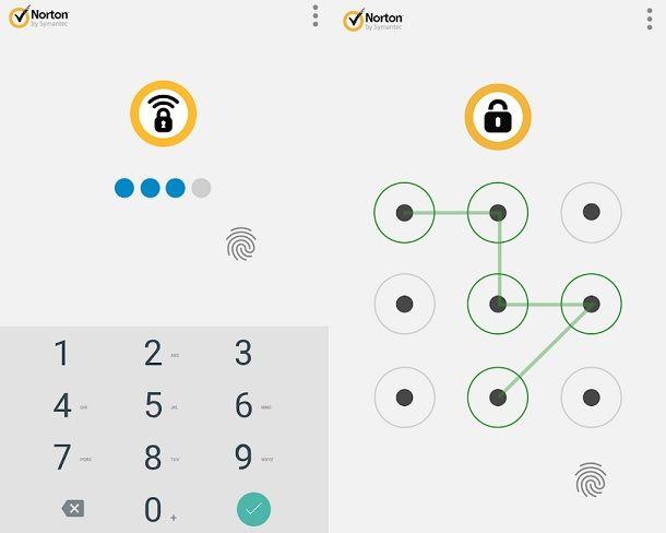Metodi di blocco Norton App Lock