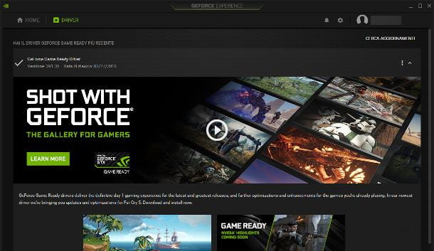 NVIDIA GeForce Experience (schede video NVIDIA)