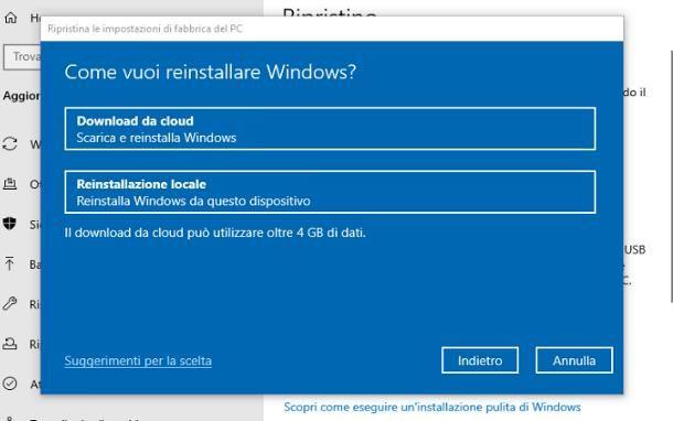 Come formattare un PC portatile: Windows 10