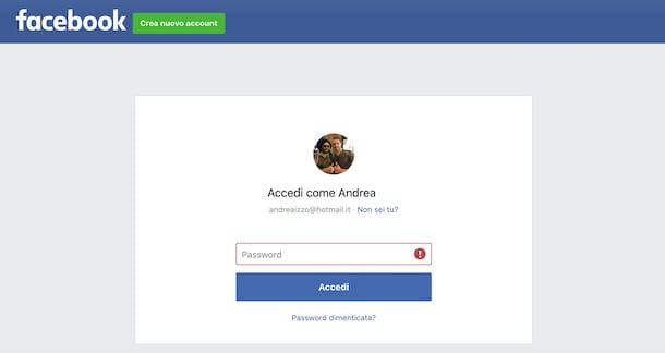 Come recuperare la password di Facebook da computer
