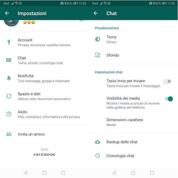 Come non salvare foto WhatsApp in galleria Android