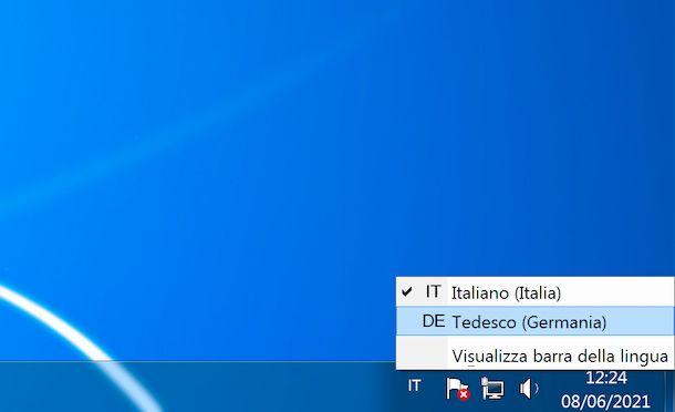 layout tastiera Windows 7